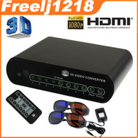 Wholesale 2D to D Conversion Box D Converter Signal Video Converter TV Movie Blue Ray Xbox PS3 DVD