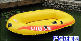 Wholesale inflatable rowing boat with Paddles pump air boat person boat Intex club free express