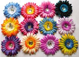 Wholesale 600pcs New designer double color daisies Gerber baby hair bows Children s clip girl flowers FlowerW