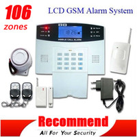 Wholesale Quad Band GSM SMS Burglar Intelligent Alarm System Wireless Home Security Auto Dial GSM850 mhz