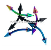 Wholesale eyebrow rings colourful body piercing jewelry