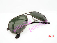 Wholesale Fashion Elegant Unisex Sunglass Eyewear men women sunglasses Gun frame Green glass lens with box RaY