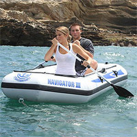 Wholesale 4 persons inflatable drift boat JiLong Navigator II inflatable rowing boat free express