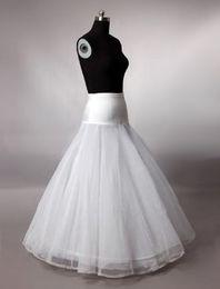 Wholesale A Line Hoop Lycra bridal Accessories crinoline slip petticoat underskirt wedding dresses In Stock