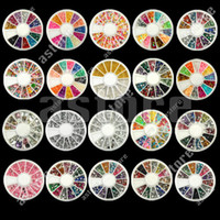 Wholesale 10 New Nail Art Rhinestones Glitters Acrylic Tips Decoration Manicure Wheel styles tx45