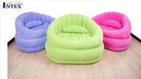 Wholesale single inflatable cafe chair air relax seat with intex pump Intex free express