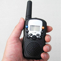 Wholesale one pair Walkie Talkie Way Radios Handheld Communicator km mini walkie talkies T388