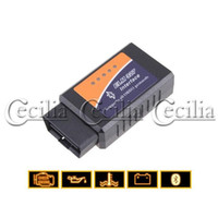 Wholesale car security ELM327 OBD2 OBDII V1 CAN BUS Bluetooth Diagnostic Interface Scanner for Car