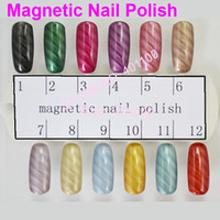 Wholesale FREESHIPPING NEW FASHION Magnetic Nail Polish with Magnetic Slice MSDS Certificated Wholesales