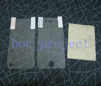 Wholesale clear LCD Screen Protector Guard full body front back for iphone S no retail package