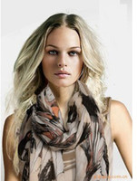 Wholesale 10PCS NEW STYLE FASHION BEGONIA BLUMEN FIVE COLORS SCARF LONG STYLE