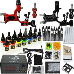 Wholesale Professional rotary dragonfly Tattoo Kits Machine gun Inks arrive within days D279