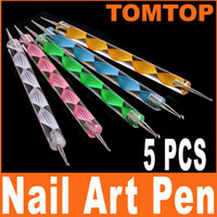 Wholesale set way Nail Art Pen Dotting Painting Marbleizing PEN H4553