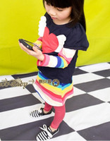 Wholesale Color striped piece of the new Korean version of the big love in the spring of girls