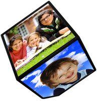 Magic Revolving Rotating Tabletop Photo Cube Frame Desk Auto...