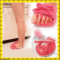 Wholesale five toes shoes half feet slippers body sculpting beautiful legs home loafer pink