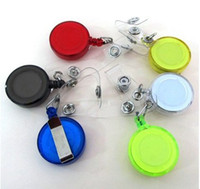 Wholesale Hot Selling Retractable Ski Pass ID Card Badge Holder Key Chain Reels