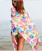 Wholesale New Arrival Women s Beach Scarves Fashion Lady s Chiffon Sarong Beach Wear