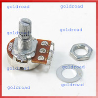 Wholesale Freeshipping New A500K Split Shaft Pots Potentiometer Guitar Audio Tone Switch