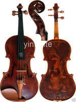 Wholesale New Full size Violin Hand Carve Dragon Pattern Concert Sound