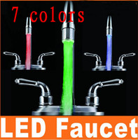 Wholesale Glow LED Light Water Faucet Tap Automatic Colors Change Temperature Sensor