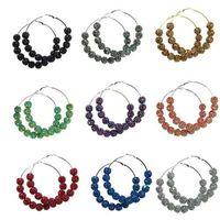 Wholesale 3 quot NEW Bing Rhinestone Fireball Beads Basketball Wives Poparazzi Hoop Earrings pairs