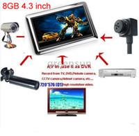 Wholesale 4 inch GB Portable Video Recorder DVR Monitor AV IN AV OUT MINI DV JXD990