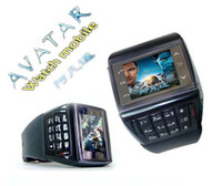 WCDMA cell phone dropship - AVATAR ET Watch Phone Quad Band Numberic Keypad Unlocked MP3 MP4 GSM Cell phone dropship