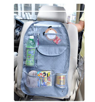 Wholesale Car multi function Pocket Storage Organizer Bag box Back seat of chair Hanging container bamboo
