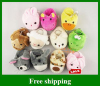 Wholesale Plush slippers cell phone Charm cartoon key chain pendant cm toys children gifts