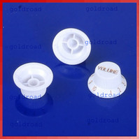 Wholesale Freeshipping White Guitars Strat Knob Volume Tone Control Knobs For Fender Stratocaster