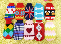Wholesale dog clothes puppy dog sweater thick cotton padded clothes big pet clothing hotselling gift