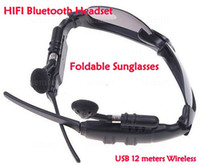 Wholesale Wireless wifi Bluetooth Headset hearphone wifi sunglasses iphone G android phone eyeglasses