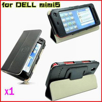 Wholesale CHpost BLACK PU LEATHER CASE COVER Stand FOR DELL STREAK MINI RW L11