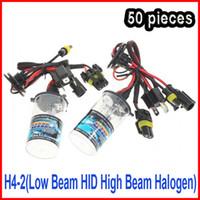 achat en gros de h4 prix caché-50 paires 12V 35W H4-2 (de croisement HID High Beam halogène) Replacement Xenon HID AC ampoules Lampes Sprae H13-2 9004-2 9007-2 combiné Mix même prix