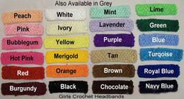 Wholesale quot Crochet Headbands Girls U Pick Colors Headbands Girl Hair Bow Headband Hairbow