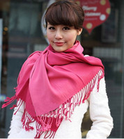 Wholesale cotton fringe scarf pink Shawl Wrap spring autumn Women s company scarevs for winter Christmas gift