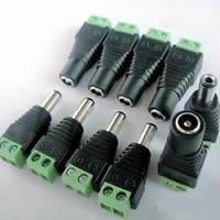 Wholesale 5 mm Male Female DC Power Jack Adapter Connector Balun plug high quality