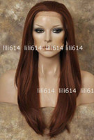 Wholesale 2012 NEW Style Lace Front Wig Long Straight Copper Red Wig mix order