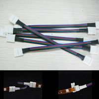 Wholesale 10pcs RGB LED Flexible Strip Pin Female Connector Cable For SMD