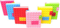 Wholesale 60pcs Heart Notebook Primary School Teacher Block Note Pad Bendy Sensory A6 Silicone Heart Building Block Diary