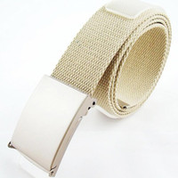 Wholesale Fashion unisex canvas belts candy colors allmatch belts suit for man and women hot sale