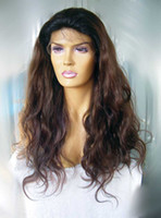 Wholesale Custom Made two tone color B T highlighted T Color Loose wave Peruvian Virgin hair full lace wig