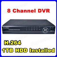 Wholesale 8CH Channel Surveillance Network Remote Access Security Recording Video DVR With TB GB HDD