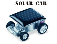 Wholesale Smallest Mini Solar Car Powered Robot Racing Cars Toy Gadget new design factory price
