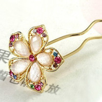 Wholesale Bridal jewelry flower hairpins rhinestone hair jewelry crystal jewelry