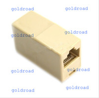 Wholesale Freeshipping RJ45 CAT5 CAT5E Network Ethernet Connector Adapter