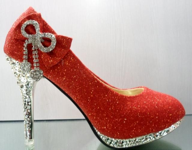 Red Heels With Diamonds | Tsaa Heel