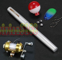 Medium Under 6 Feet Spinning Luxury Fishing Rod Mini pocket Fish Pen Fishing Rod in Pen case with Retail packaging 8pcs lot hot
