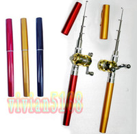 Wholesale New Fishing Rod Mini pocket Fish Pen Fishing Rod in Pen case with Retail packaging hotsale